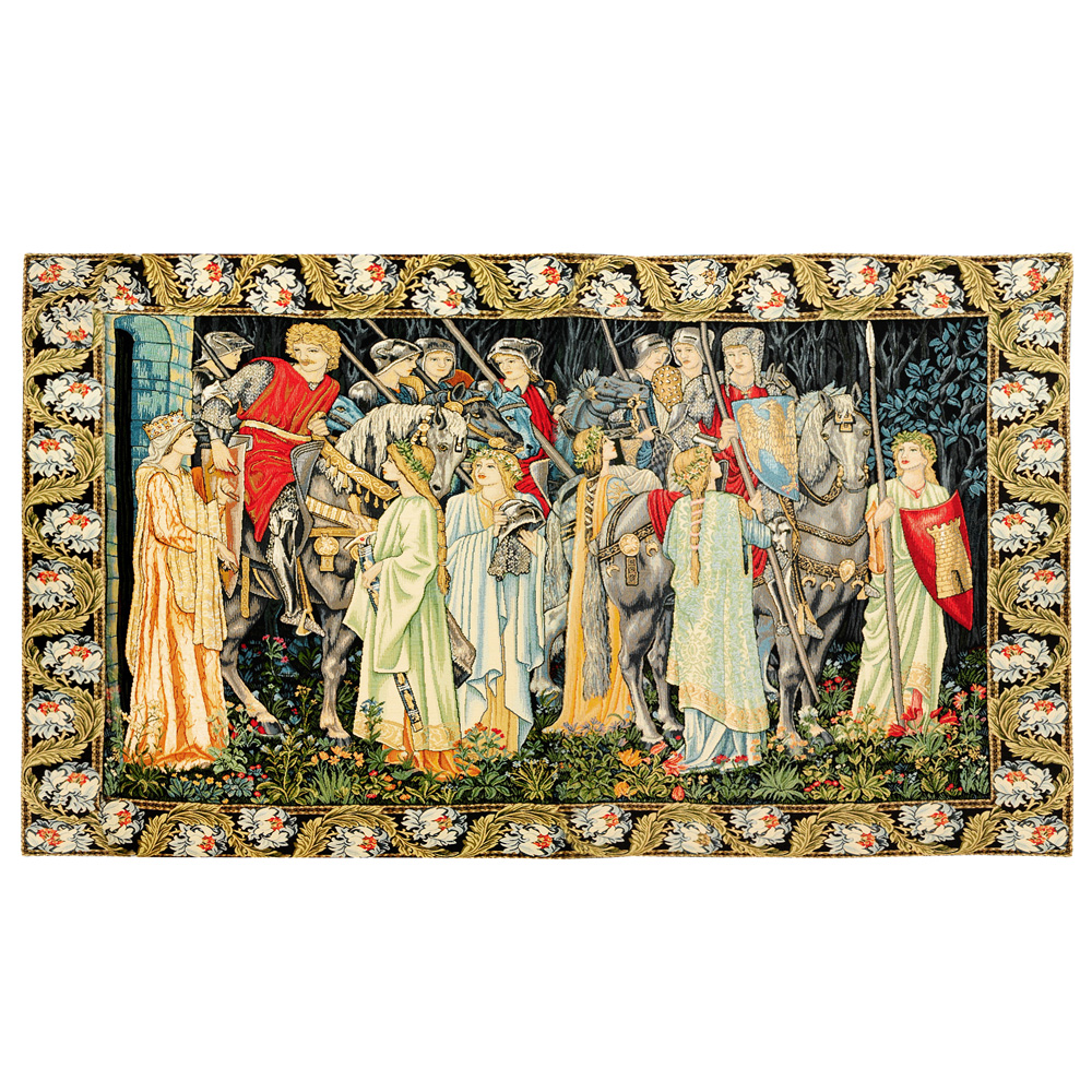 The Arming and Departure of the Knights tapestry (with border)