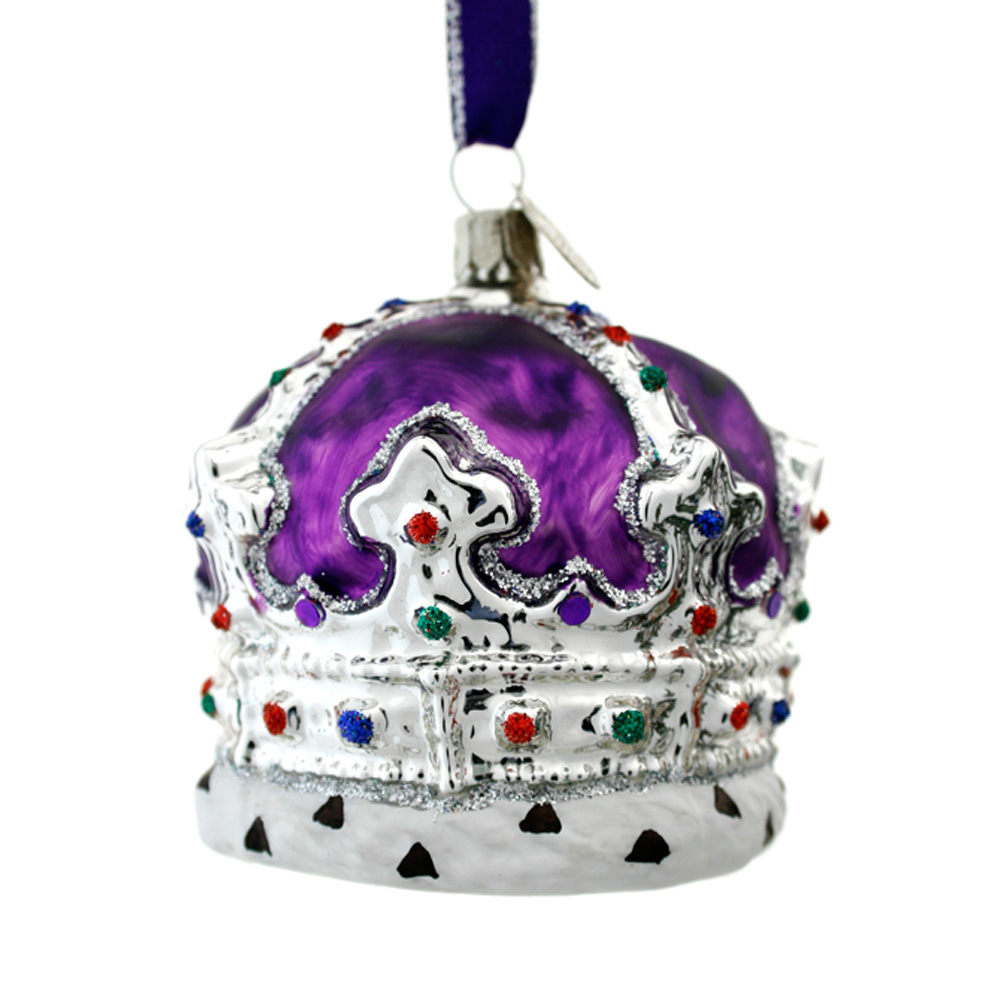 Crown decoration - purple