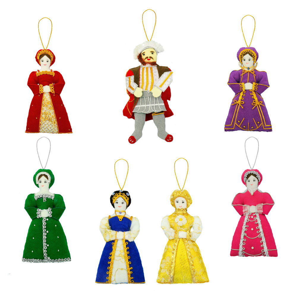 Henry VIII and wives tree decorations