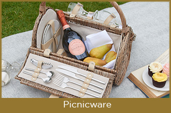 Picnic baskets and garden accessories