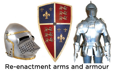 Re-enactment arms and armour