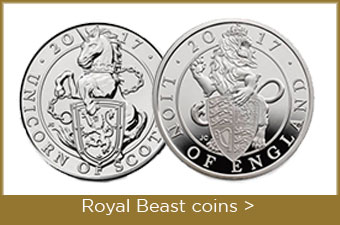 Royal Mint 'Queen's Beast' Lion of England and Unicorn of Scotland 2017