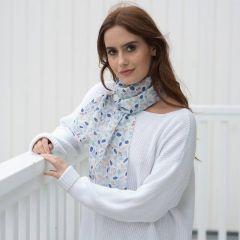 blue berries silk scarf