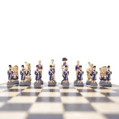 Battle of Waterloo handpainted resin chess pieces
