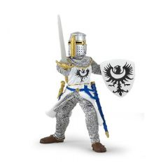 Medieval white knight in chainmail toy
