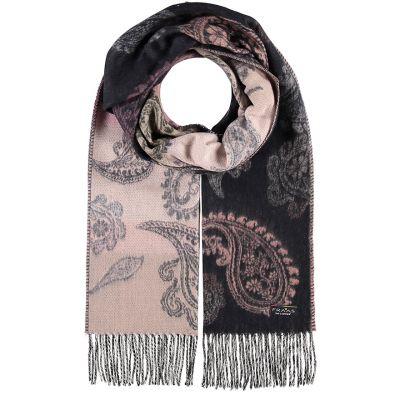 Paisley cashmink dark grey scarf