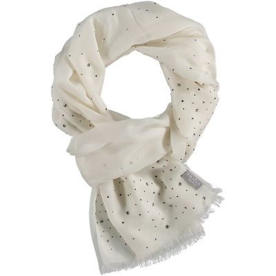 diamante cashmere scarf styled