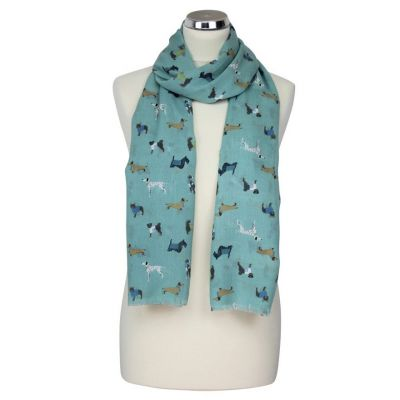 Green 'Paws' scarf