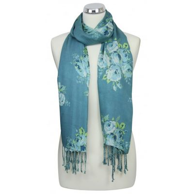 Victoria rose light green summer scarf