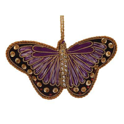 Purple butterfly decoration