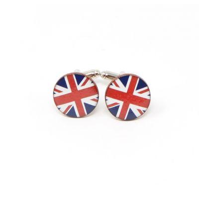 Union Jack round ceramic cufflinks