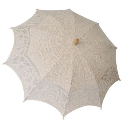 Cream Lace Battenburg Parasol