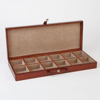 leather cufflinks trinket box open
