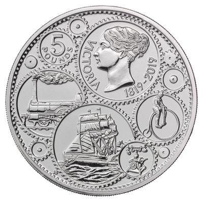 The Royal Mint 200th anniversary of the birth of Queen Victoria UK £5 brilliant uncirculated coin design
