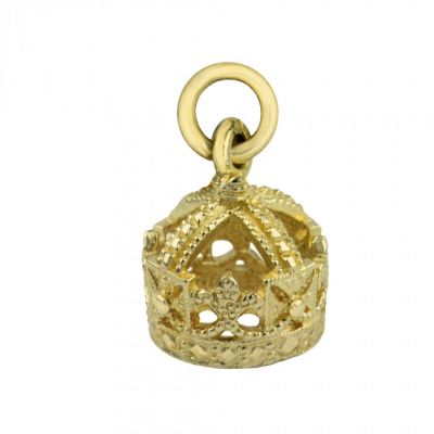 Queen Victoria 9ct gold crown charm - Kensington Palace jewellery charms
