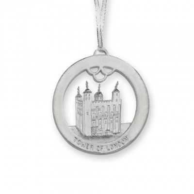 Tower of London Embossed Metal Christmas decoration