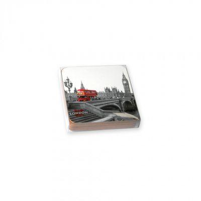 Red bus coaster set