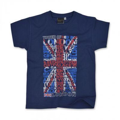 Navy Union Jack kids t-shirt