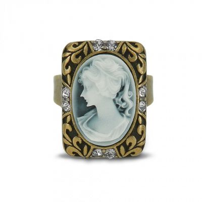 Victorian style cameo ring