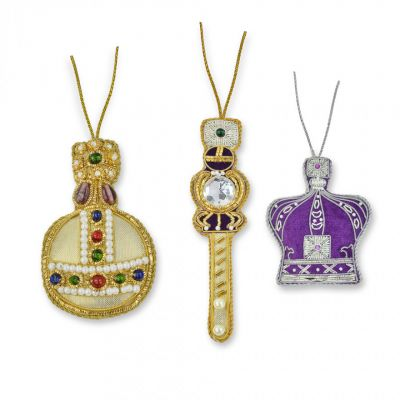 St Nicolas Crown Jewels tree decorations