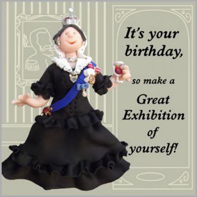Queen Victoria birthday card