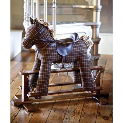 Little bird told me Tennyson fabric rocking horse