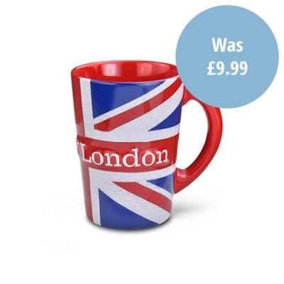 Tower of London Union Jack Coffee Mug