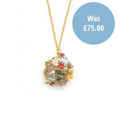 Floral Orb Gold Necklace