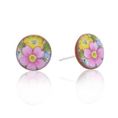 bouquet of flowers ceramic stud earrings