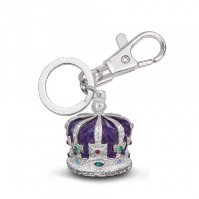 Crown of india purple keyring - Tower of London Crown Jewels