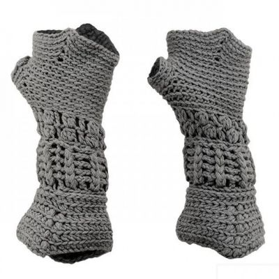 kids knitted gauntlet gloves