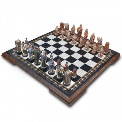 Hand painted Battle of Hastings chess set