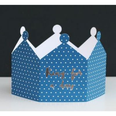 King for a day 3D crown greeting card