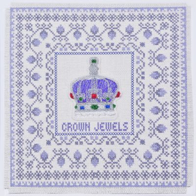 Crown of India cross stitch card
