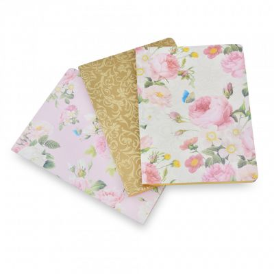 Royal palace rose set of 3 notebooks