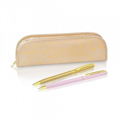 Royal palace rose boxed set of pens and pencil case