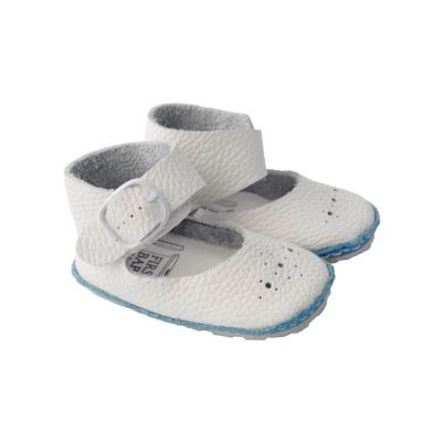 Blue and white baby shoes