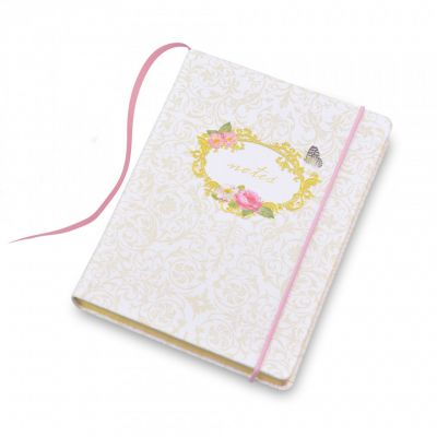 Royal palace rose A5 notebook in pink