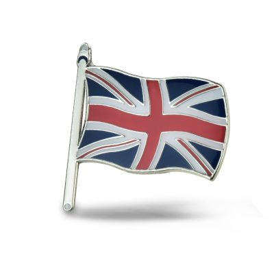Union Jack flag badge