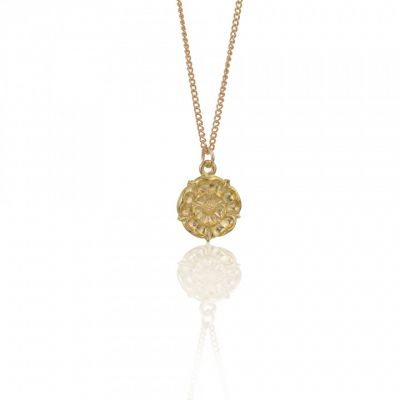 Gold Tudor Rose pendant