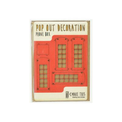 wooden london pop out card