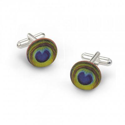 Peacock cufflinks