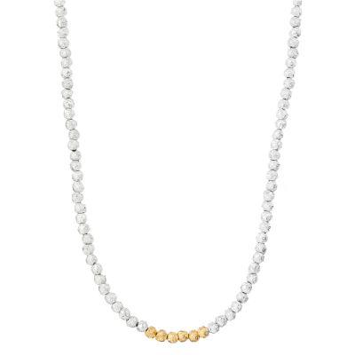 silver gilt pepper corn necklace