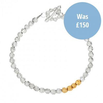 peppercorn silver gilt bracelet