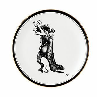 """Shoe of Eden"" Victorian boot tea plate - Lauren Dickinson Clarke"