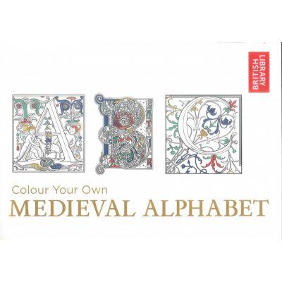 Medieval alphabet colouring book
