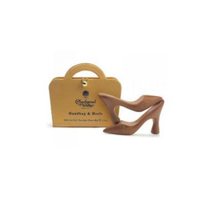 "Charbonnel et Walker gold ""Handbag & Heels"" chocolate box - salted caramel milk chocolate shoes"
