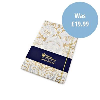 Royal Victoria white A5 luxury notebook