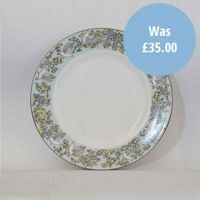 Atty & Smart English Kingfisher vintage style fine bone china tea plate