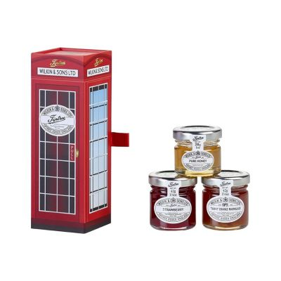 Wilkin & Sons Tiptree Telephone gift set with trio of jams